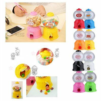 Cute Sweets Mini Candy Machine Bubble Gumball Dispenser Coin Bank Kids Toy~JX