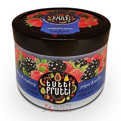 Farmona Tutti Frutti Blackberry and Raspberry Sugar Body Scrub 300g
