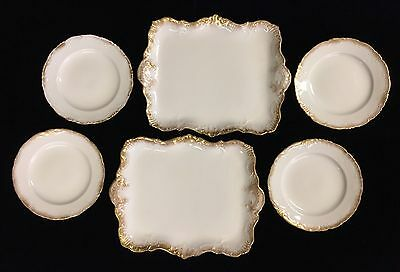 Antique/Vintage Maple and Co Ltd London 2 Serving Plates and 4 Cake Plates