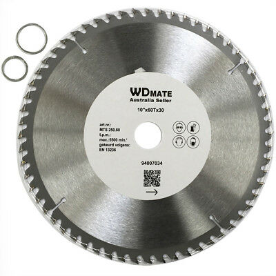 "3x Wood Cutting DISC 250mm 60T TCT Circular Saw Blade 10"" Wheel Cross 94007034"