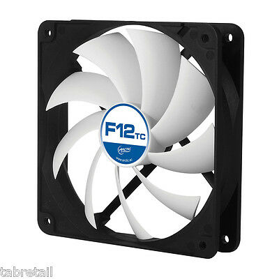 Arctic F12 TC 120mm PC Case Cooling Fan Temperature Controlled Silent/Quiet