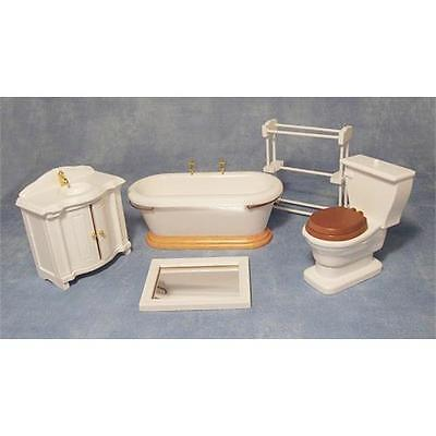 Bathroom Set 5 Piece 1:12 Scale for Dolls House