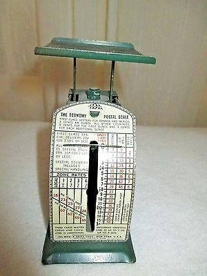 Vintage I.D.L. the Economy Postal Scale Green in Color Collectible