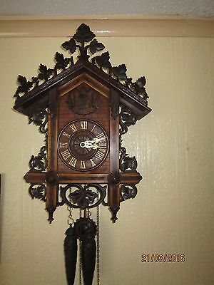 Antique Cuckoo Clock , by Philipp Haas & Son, circa 1880 ,serviced and working.