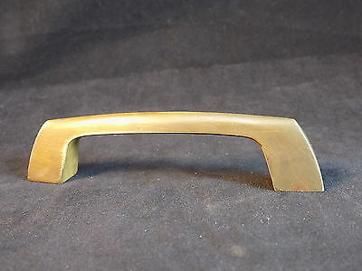 """SOLID BRASS DRAW PULL handle 4 3/4"""" long 1 1/4"""" tall mount holes 5"""" on center"""