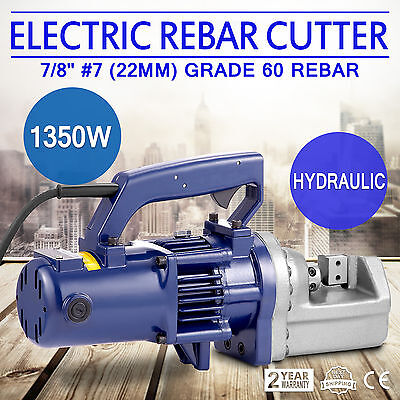 "RC-22mm 1350W 7/8"" 7# Electric Hydraulic Rebar Cutter Any Angle Steel Bar Light"