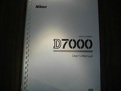 ~PRINTED~ Nikon D7000  User guide Instruction manual  A4 or A5