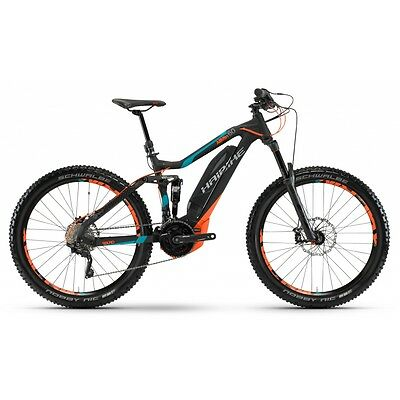 "HAIBIKE Sduro AllMtn 6.0 27,5"" schwarz/cyan/orange matt 2017 E-Fully"