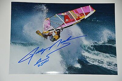 Robby Naish signed 20x30cm Windsurfing Foto , Autogramm / Autograph in Person