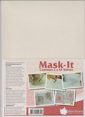 Woodware Stamping Mask Paper Mask-It Sheets (2 pack)