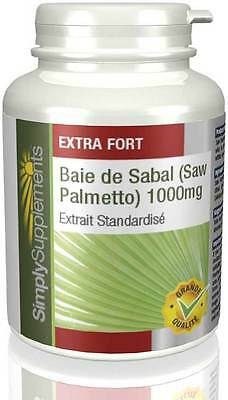 Saw Palmetto 1000mg - 120 comprimés - Simply Supplements