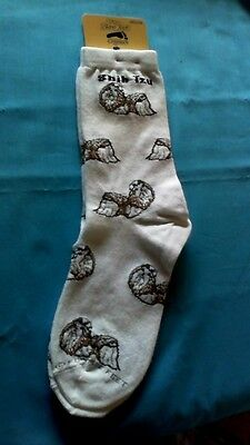 Shih Tzu Socks by For Bare Feet NWT