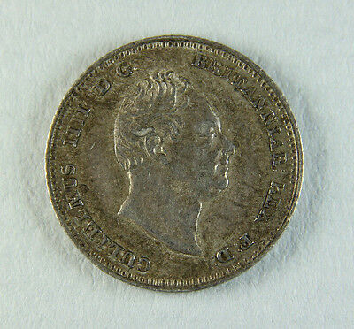 1836 William IV Groat Four Pence 4p;  Old album collection!