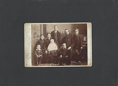 Vintage Cabinet Photo of Young Ontario Family