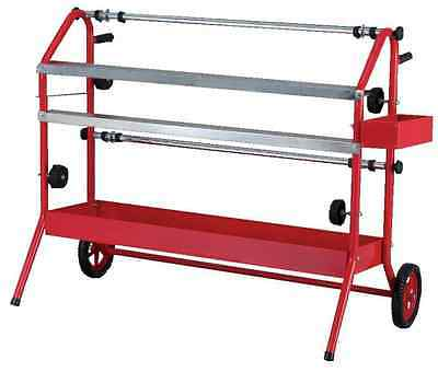 "Masking Paper Dispenser Trolley Twin 36"" Tape Rolls 900Mm Bodyshop Paint Machine"