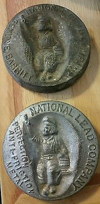 2 Antique Dutch Boy Paint Advertisement Paper Weights National Lead Company