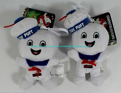 NEW Get 2    Ghostbusters STAY PUFT MARSHMALLOW MAN Happy Plush Musical CLIP ONS