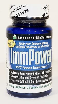 New Factory Sealed ImmPower AHCC Immune System Support 500mg 30 Caps Exp: 01/19