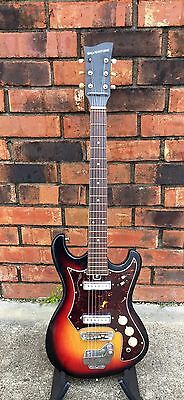 Late 1960s Silvertone MIJ 319-1412 Electric Guitar USED Great Cond w/ bag