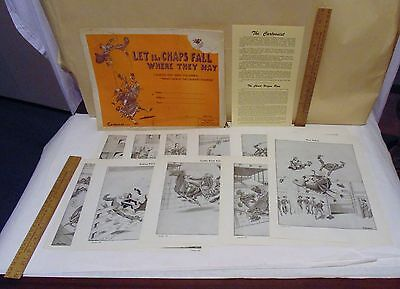 LET the CHAPS FALL WHERE THEY MAY - © 1950 CAMERON CARTOONS - 10 Print SET