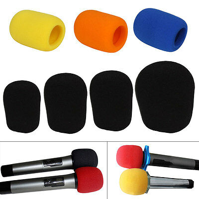 2-20X Microphone Headset Grill Windshield Sponge Foam Mic Cover different size