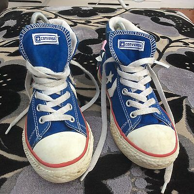 Kids Converse All Star Blue  Junior Hi-Tops Size 1 UK