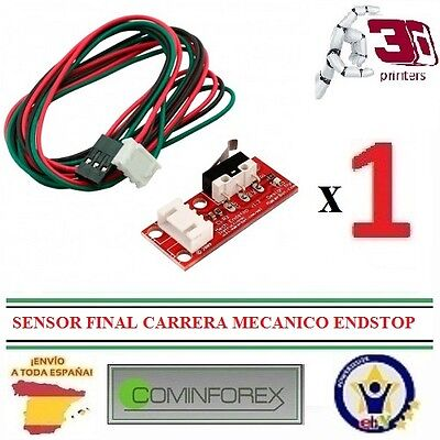 Final Carrera Mecánico Endstop Micro Switch+ Cable Impresora 3D CNC Prusa RAMPS