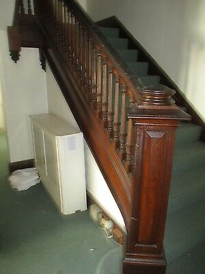 Vintage Staircase Balusters With Hand Rail And Newel Post