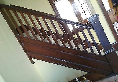 Staircase Balusters With Hand Rail And Newel Post Approx 6 Ft