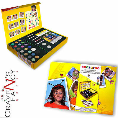 Snazaroo Large Facepainting Gift Set Face Paints Painting Party Kit New