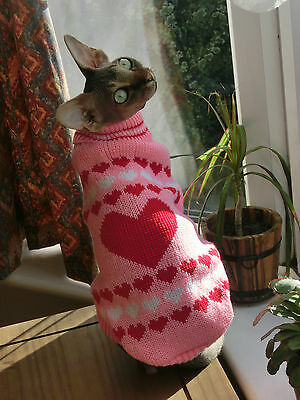 Winter sweater coat top for a Sphynx cat - cat clothes Katzenbekleidung