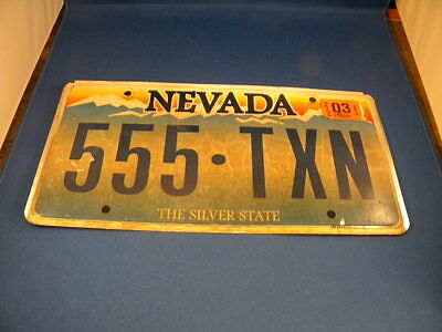 "Nevada ""The Silver State""  License Plates"