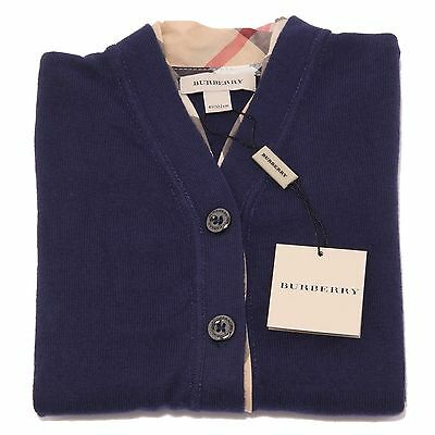 8143Q cardigan bimba blu BURBERRY maglioni jumpers kids