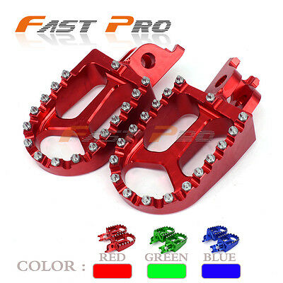 Red Foot Pegs Rests Pedals For Honda CR125 CR250 CRF250X CRF450X CRF250R CRF450R