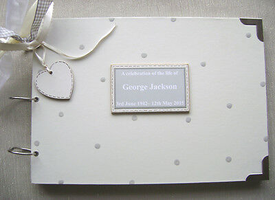 Personalised. In Loving Memory.. A4 Size..photo Album/guest Book/memory Book.