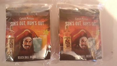 2 Captain Morgan Spiced Rum Inflatable Beach Balls/new In Package