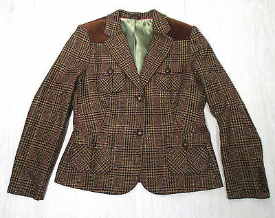 Madeleine Jacke Country Style Ellbogenpatches Wolle Gr.42