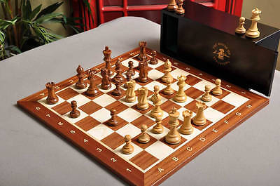 USCF Sales The Library Grandmaster Chess Set, Box, and Board Combination