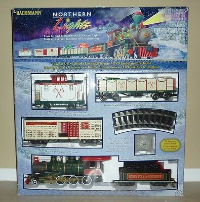BACHMANN BIG HAULERS NORTHERN LIGHTS Train Set Christmas G Scale WORKS