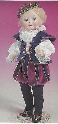 """20-21""""antique Googly Prince Charming Boy Doll Suit/jacket&breeches/jabot Pattern"""