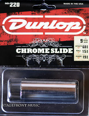 Jim Dunlop J220 Usa Made Chrome Guitar Slide. Suitable For Electric Guitar - New