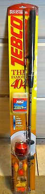 """ZEBCO The FAMOUS 404 SPIN CAST 5' 6"""" COMBO With Tackle Kit USA SHIPPING INCLUDED"""