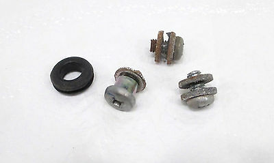 1985 79-87 Yamaha QT50 Yamahopper OEM Exhaust Muffler Heat Shield Bolts Hardware