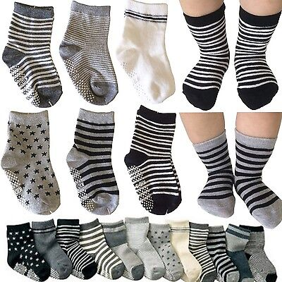 Kakalu 6 Pairs Assorted Non Skid Ankle Cotton Socks Baby Walker... TAX&SHIP FREE