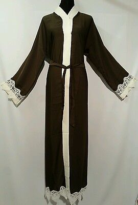 Women  open front women abaya.japanese Neda/linen  material.l sizes 54.56.58