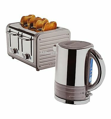 Dualit Architect Stainless Steel 1.5 Litre Rapid Boil Kettle & 4 Slice Toaster
