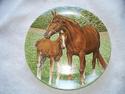Kaiser West Germany Chestnut Mare And Foal Horse Collector Plate