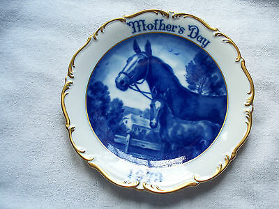 Dresden West Germany Mothers Day 1973 Mare Foal Horse Art Collector Plate