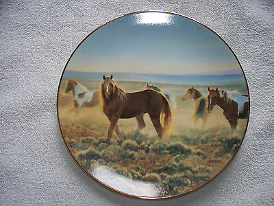 Proud Sentinels Of American West Youngblood Glazier Horse Collector Plate