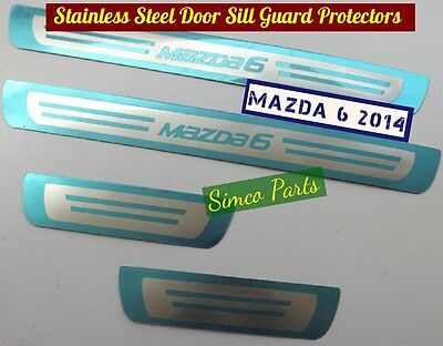 4 x Stainless Steel Door Sill Guard Protectors for MAZDA 6 2014
